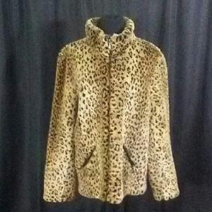 White Stag Animal/Leopard Print Coat